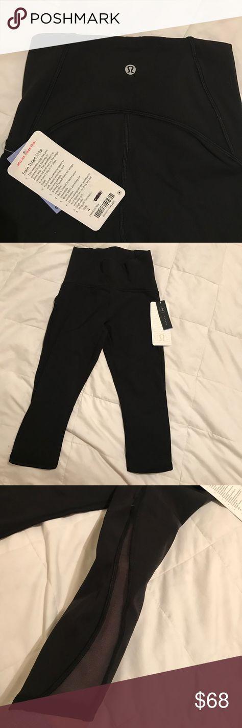 4af0d03592846 Lulu Lemon crop mesh leggings Black cropped leggings, brand new, side mesh.  lululemon