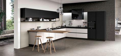 Ante Cucina In Vetro.Cucina Moderna Design Ante In Vetro Lucido Opaco Glass Arredo3