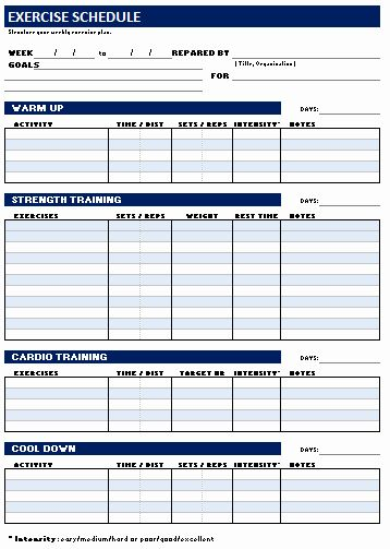Personal Trainer Workout Plan Template Elegant Free Weekly Personal Workout And Exercise Sched Workout Plan Template Personalized Workout Plan Workout Schedule