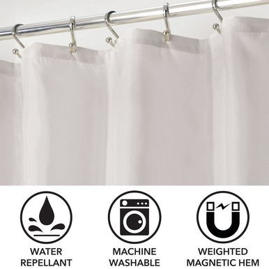Water Repellent Fabric Shower Curtain Liner 72 X 72 Fabric