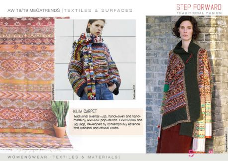 FW 2018-19 Materials & Textiles Directions by 5forecaStore: kilim carpet inspiration.