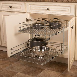 Household Essentials Pantry Pull Out Drawer Wayfair Small Kitchen Decor Cabinet Organization Cabinets Organization