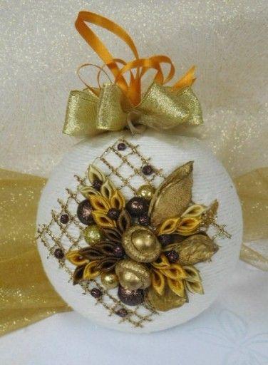 Piekna Bombka Sznurkowa Boze Narodzenie Rekodzielo 7594359927 Oficjalne Archiwum Allegro Christmas Bulbs Christmas Ornaments Christmas