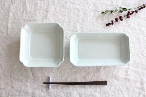 【東屋】木瓜角皿|土灰|正角|和食器通販|うちる|和食器の皿、鉢、飯碗など