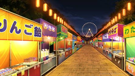 Festival By Vui Huynh Cenario Anime Fundo De Animacao Cenario