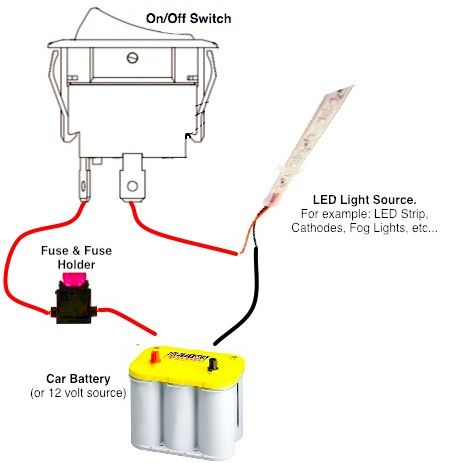 On Off Switch Led Rocker Switch Wiring Diagrams Oznium Toggle Switch Switch Light Switch Wiring