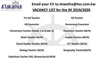 Jobs In Kuwait International School Atis Iiq8 Jobs Jobs For