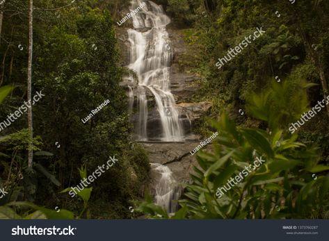 Rio De Janeiro Brazil January 20 2019 Beautiful Waterfall