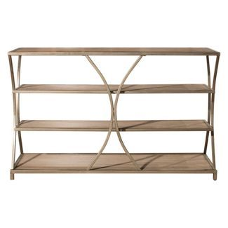 Baxton Studio Lancashire Rustic Industrial Style Oak Brown Finished Wood And Black Finished Metal Bookshelf In 2019 Products Wood Metal Wood Bookshelves