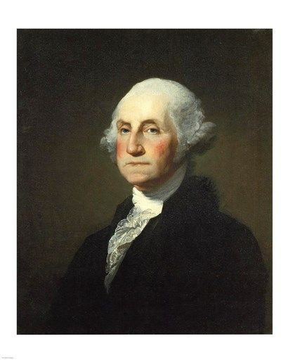 George Washington Gilbert Stuart Williamstown Portrait shown here. First President of the United States, the commander-in-chief of the Continental Army during the American Revolutionary War, and one of the Founding Fathers of the United States.