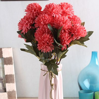 Get up to 36% off on Peach Chrysanthus Flower Bunch With Pot at Wooden Street. #artificialflowers #fakeflowers #plasticflowers #artificialflowersinvase, #artificialflowersonline, #artificialflowerfordecoration , #artificialflowerdecoration