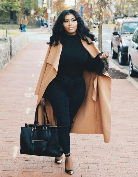 70 Casual Work Outfits For Black Women - Mode Frauen 60 Casual Work Outfits, Curvy Outfits, Mode Outfits, Classy Outfits, Chic Outfits, Black Girls Outfits, Curvy Work Outfit, Work Attire, Autumn Outfits Curvy
