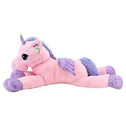 """Pegasus """"Unicorn"""" flauschig Kuscheltier rosa: Plüsch Einhorn Stofftier"""