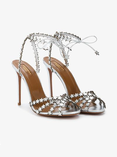buy good outlet sold worldwide Silver Leather Starlight 105 sandals in 2019 | Stiletto ...