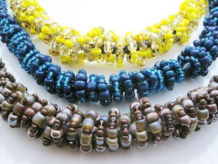 Zandstorm: Lederen ketting met rocailles (Juwelen,halsketting)
