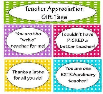 Teacher Appreciation Pun Gift Tags Teacher Appreciation Pun Gifts Teacher Appreciation Gifts