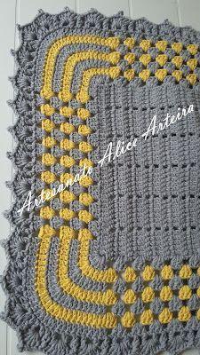 Tapete De Croche Harmonia Passo A Passo Com Imagens Tapete