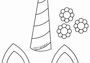 Unicorn Horn Template Printable For Unicorn Horn Ears And Flowers