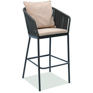 Silla Para Exterior Silla Con Estructura De Acero Diseno De Exteriores Comodidad Muebles Para Restaurantes Muebles Para Terrazas Mobiliario Para Restaurante