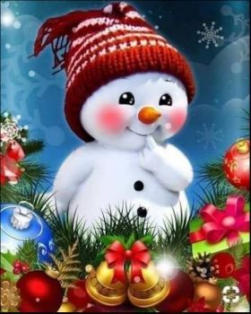 Solve Holiday Snowbaby jigsaw puzzle online with 99 pieces
