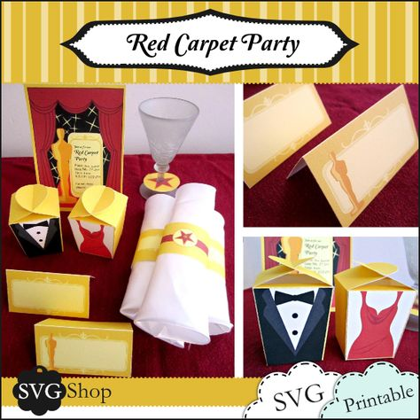 It's all about the #decorations. Check out these Red Carpet Party Printables! #events #viewingparty