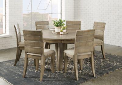 Crestwood Creek Gray 7 Pc Round Dining Room Dining Room Sets Round Dining Room Round Dining Room Table