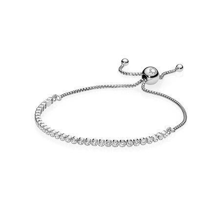 Sparkling Strand Bracelet With Cubic Zirconia Sterling Silver Bracelets Pandora Beads Bracelet Pandora Jewelry