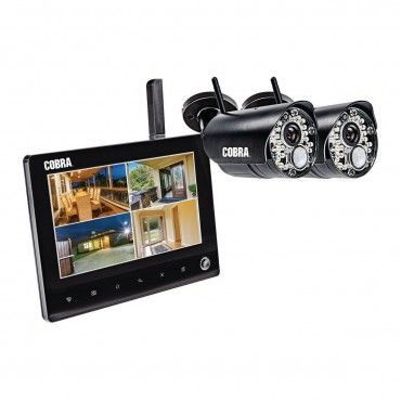 4 Channel Wireless Surveillance System With 2 Cameras In 2020 Security Cameras For Home Home Security Systems Wireless Security Cameras