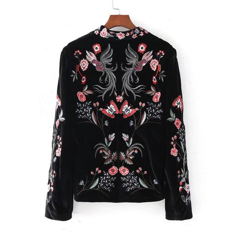 SheIn offers Embroidery Fox Velvet Blazer & more to fit your fashionable needs.