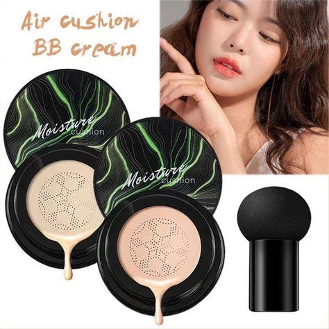 Mushroom Head Make up Air Cushion Moisturizing Foundation Air-permeable Natural Brightening Makeup BB Cream (Discount 30 % )  #Mushroom  #Head  #Make