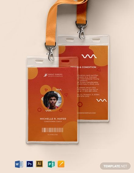 Creative sports ID Card | Card design | Id card template, Graphic