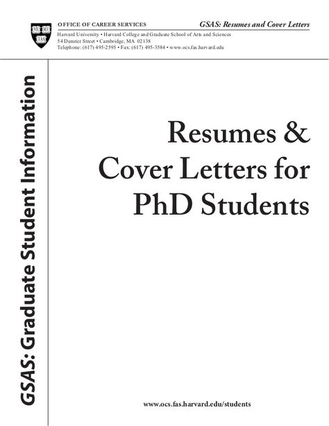 cover lettersresumes amp letters forphd studentsgsas letter - grad school resumes