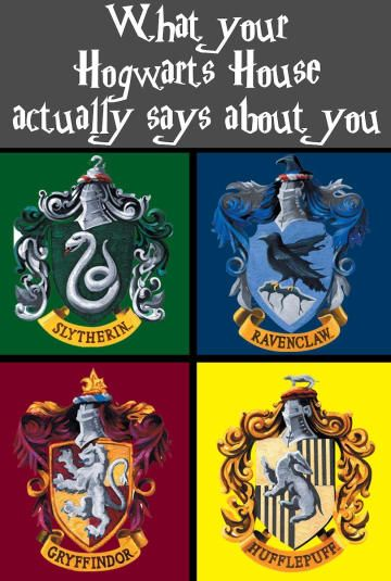 What Your Hogwarts House Actually Says About You Harry Potter World Hogwarts Nerd