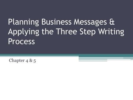 Planning Business Messages Applying The Three Step Writing Process Levels Of Understanding Relationship Skills Writing Planning