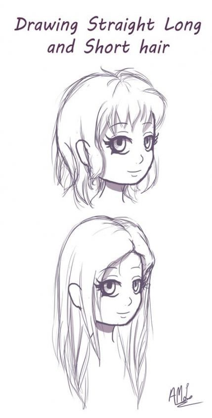 Trendy Long Straight Hair Drawing Reference Ideas In 2020 How To Draw Hair Sketch Book Drawing Reference