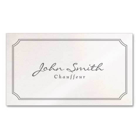 Classic pearl white chauffeur business card limo taxi business classic pearl white chauffeur business card this great business card design is available for customization all text style colors sizes can be modified colourmoves