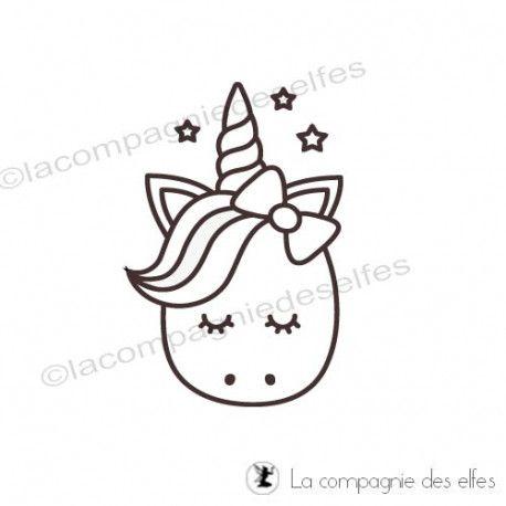 Tampon Tete Licorne La Compagnie Des Elfes Dessin Licorne Facile Facile A Dessiner Illustration Licorne