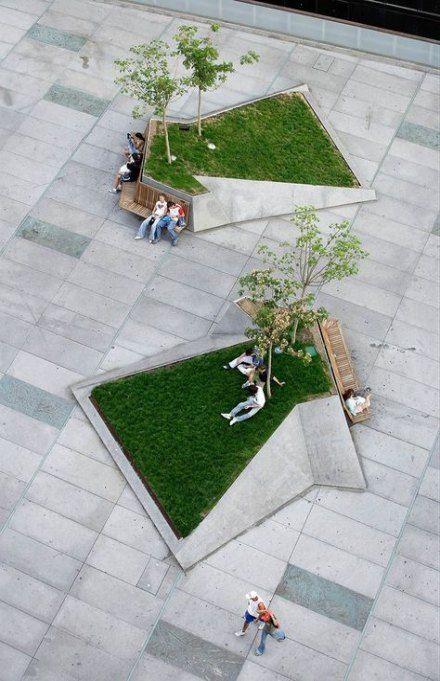 28 Ideas Landscape Architecture Roof Trees Urban Landscape Design Landscape Architecture Design Plaza Design