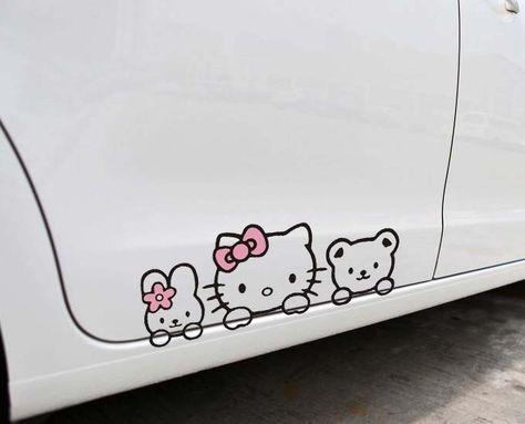 Universal Type Night-Shop Hello Kitty Classic Image-Car Windschutzscheibenabdeckung Visier Auto SUV LKW Auto Isolationsschirm