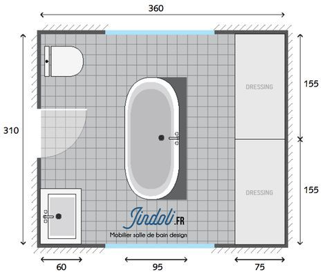 Exemple Plan De Salle De Bain De 12m2 Round Mirror Bathroom Bathroom Mirror Website Template Design