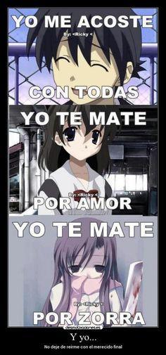 Carteles Anime School Days Makoto Sekai Kotonoha Desmotivaciones Memes Animados Memes De Anime Memes Divertidos