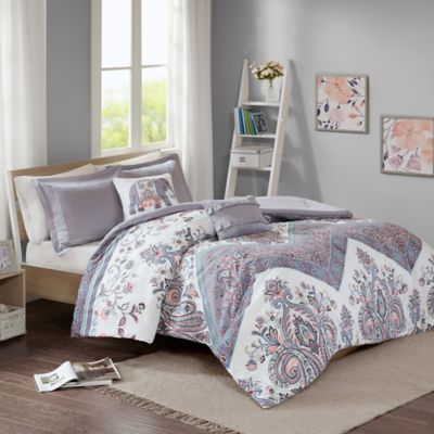 Intelligent Design Kylie Twin Twin Xl Comforter Set In Lilac