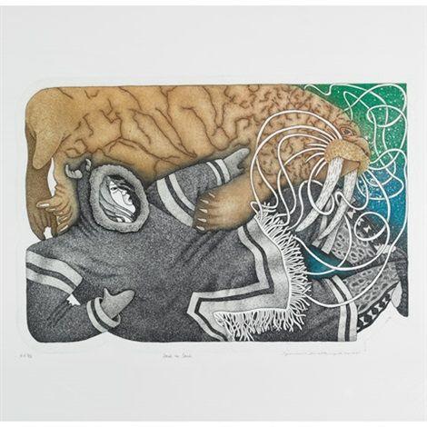 Soul To Soul By Germaine Arnaktauyok Inuit Art Global Art Art