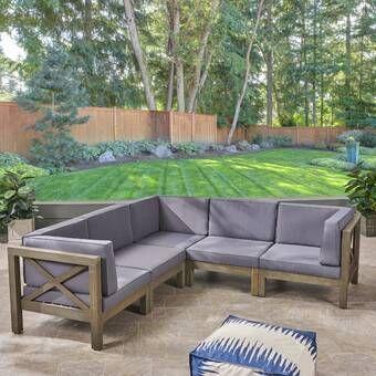 Ellison Sectionnel Patio Avec Coussins En 2020 Meubles De Patio Idees De Patio Mobilier Jardin