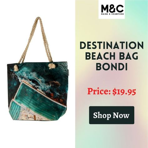 Explore the summer vibe Bondi beach design bag from Maine and Crawford. We offer the perfect beach bag that can carry your belongings & drinks. It is a perfect use for the beach, picnic, & more. To know more call us today on 1300763860 #airtimeluxe #Beach #beachbag #airtimeaccessories #beachaccessories #airtimelux #bestbeachbag #womensbeachbag #babygirlbeachbag #maineandcrawford #homeliving #homelivingitems