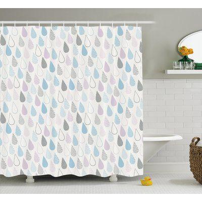 East Urban Home Raindrops Decor Single Shower Curtain Curtains
