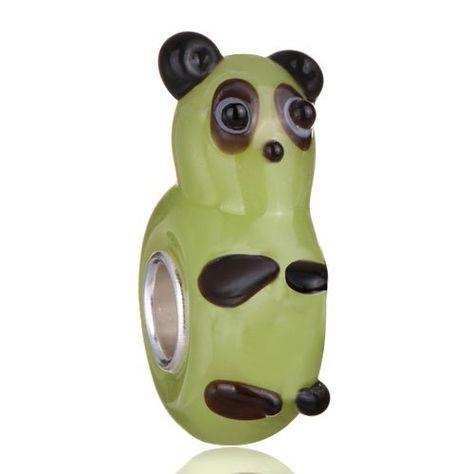 9bf5dfa521e Pugster Cute Panda Peridot Murano Glass Charm Bead Fits Pandora Charm  Bracelet Pugster. $12.49. Free Jewerly Box. Measures 14 mm x 7 mm.