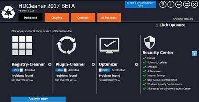 Hdcleaner أداة قوية لتحسين أداء الجهاز حيث يحتوى على مجموعه ادوات شاملة لصيانة نظام الويندوز من خلال تنظيف الهارد ديس Internet Settings System Restore Freeware