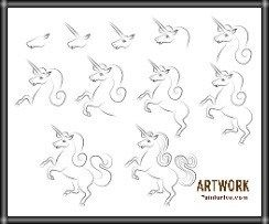 رسم حصان بالرصاص سهل بسيط بالخطوات والصور للأطفال والمبتدئين Animal Drawings Art Drawings