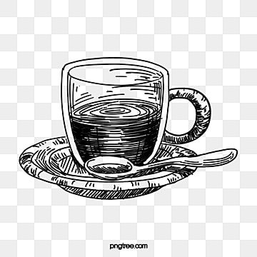 Coffee Line Drawing Black And White Lineart Coffee Cup Coffee Mug Clipart Clipart Black And White Coffee Png Transparent Clipart Image And Psd File For Free Coffee Png Clipart Black